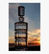 Bottled Sunset Cape Breton Nova Scotia Photographic Print