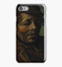 Head of a Peasant with Cap 1884 Vincent Van Gogh iPhone Case/Skin