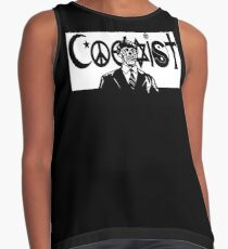 THEY LIVE! Coexist Mash-Up (blk) Contrast Tank
