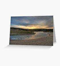 Inverness Beach Sunrise Nova Scotia Greeting Card