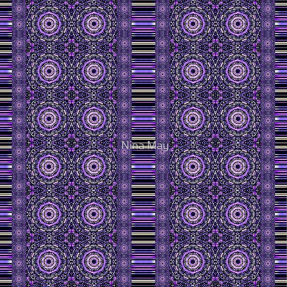 Violet Doodle Mandalas by Nina May