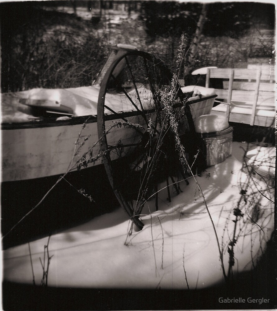 Old Wheel by Gabrielle Gergler