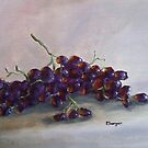A Whole Bunch - red grapes by Pamela Burger