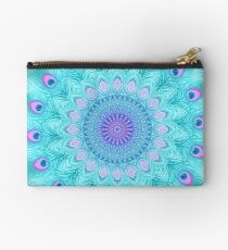Peacock feathers mandala Studio Pouch