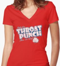 Throat Punch Women's Fitted V-Neck T-Shirt