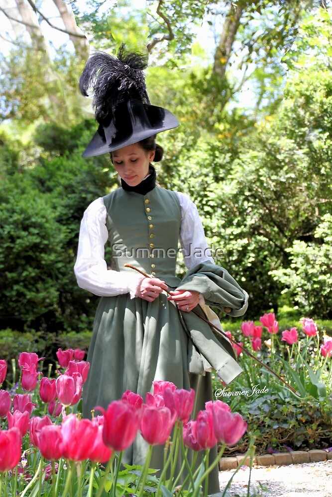 A Colonial Lady in Her Garden by SummerJade