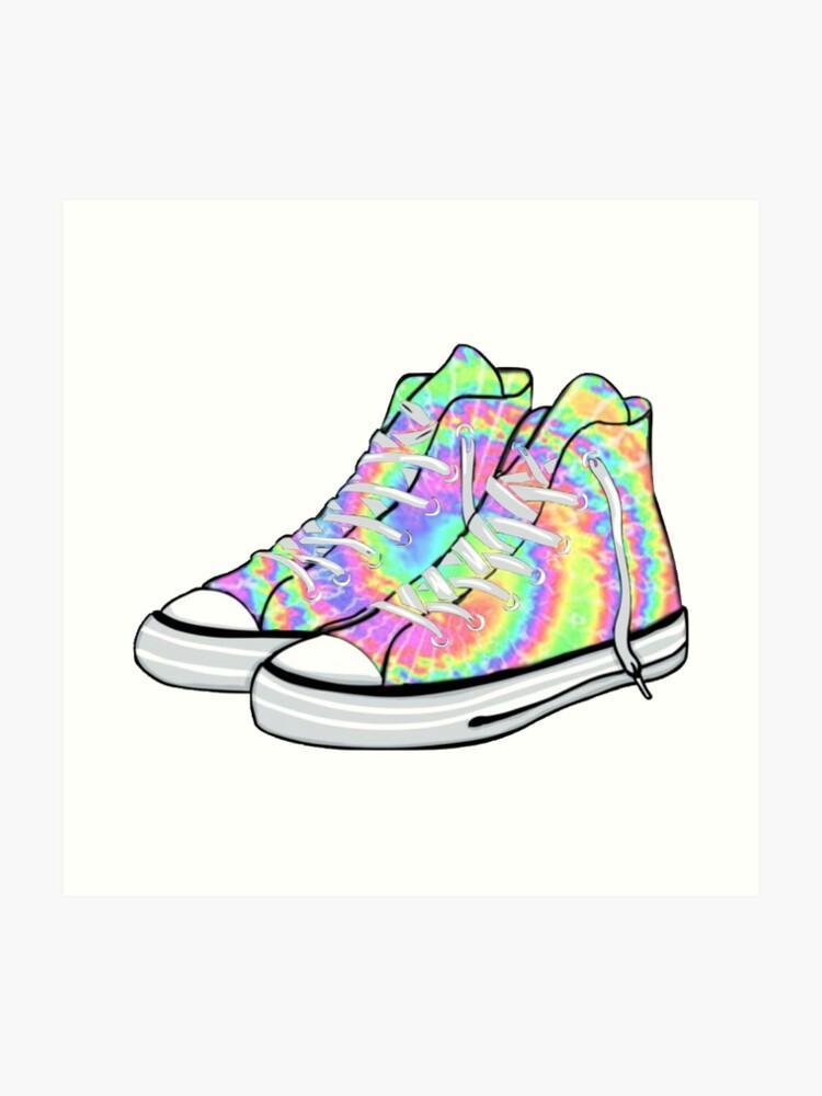 5cb24af0c1bc3 Tie Dye Converse | Art Print