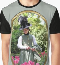 A Colonial Lady in Her Garden Graphic T-Shirt