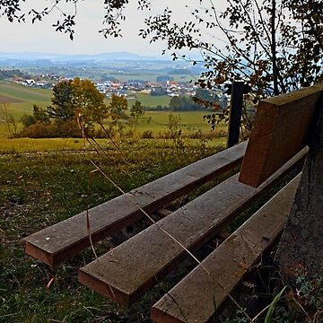 Bench with nature and scenery | landscape photography by patrickjobst