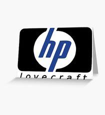 HP lovecraft Logo  Greeting Card