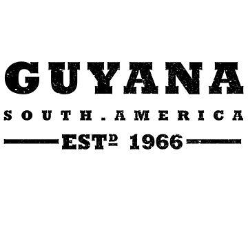 Guyana - South America Est 1966 by identiti