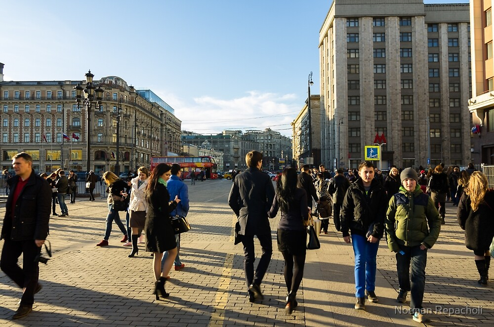Out and about - Moscow Russia by Norman Repacholi
