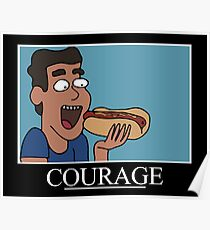Courage Motivational (Rick & Morty)  Poster