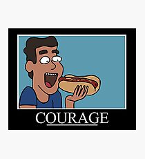 Courage Motivational (Rick & Morty)  Photographic Print