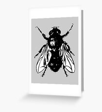 The Fly (bicolor) Greeting Card