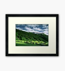 Morning snow, Gargellen, Austria Framed Print