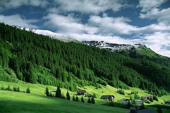 Morning snow, Gargellen, Austria by Lenka