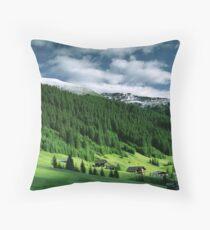 Morning snow, Gargellen, Austria Throw Pillow