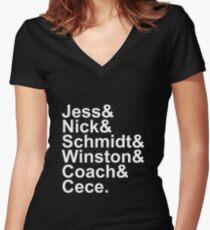 New Girl Name Design- White Text Women's Fitted V-Neck T-Shirt