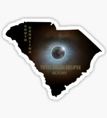 Total Solar Eclipse in South Carolina Map Outline Sticker
