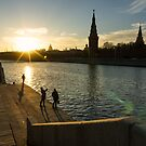 Snapshots at sunset - Moscow Russia by Norman Repacholi