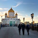 Cathedral of Christ the Saviour - Moscow Russia by Norman Repacholi