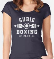 SUBIE BOXING CLUB Women's Fitted Scoop T-Shirt