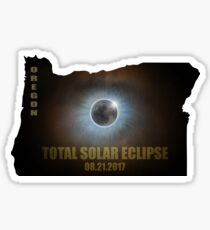 Total Solar Eclipse in Oregon Map Outline Sticker