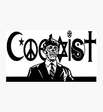 THEY LIVE! Coexist Mash-Up (wht) Photographic Print