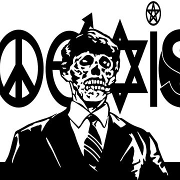 THEY LIVE! Coexist Mash-Up (wht) by BarbwireCult