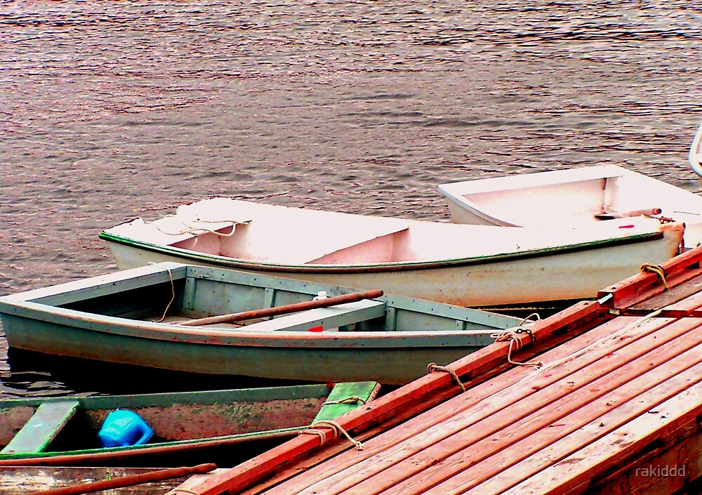 Faded rowboats by rakiddd