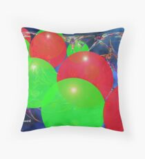 Bubbles in Perspective Throw Pillow