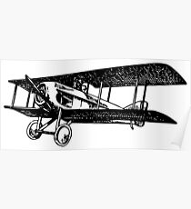 Old Vintage Antique Airplane Drawing #5 Poster