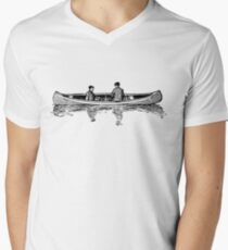 Old Vintage Antique Canoe Drawing T-Shirt