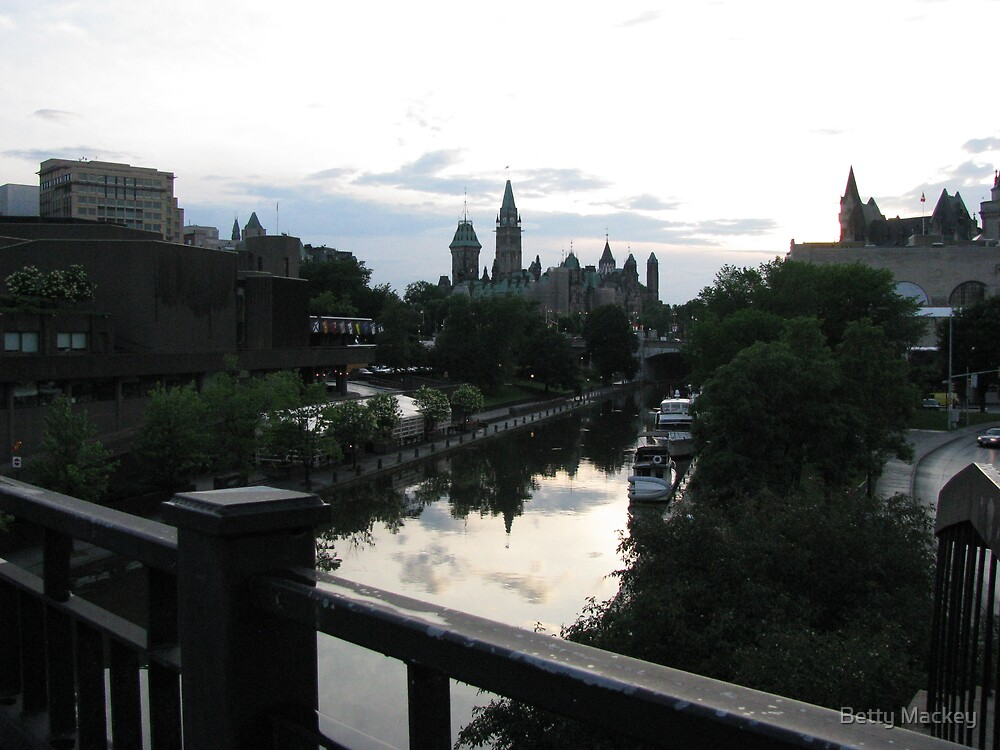 Downtown Ottawa at Dusk by Betty Mackey