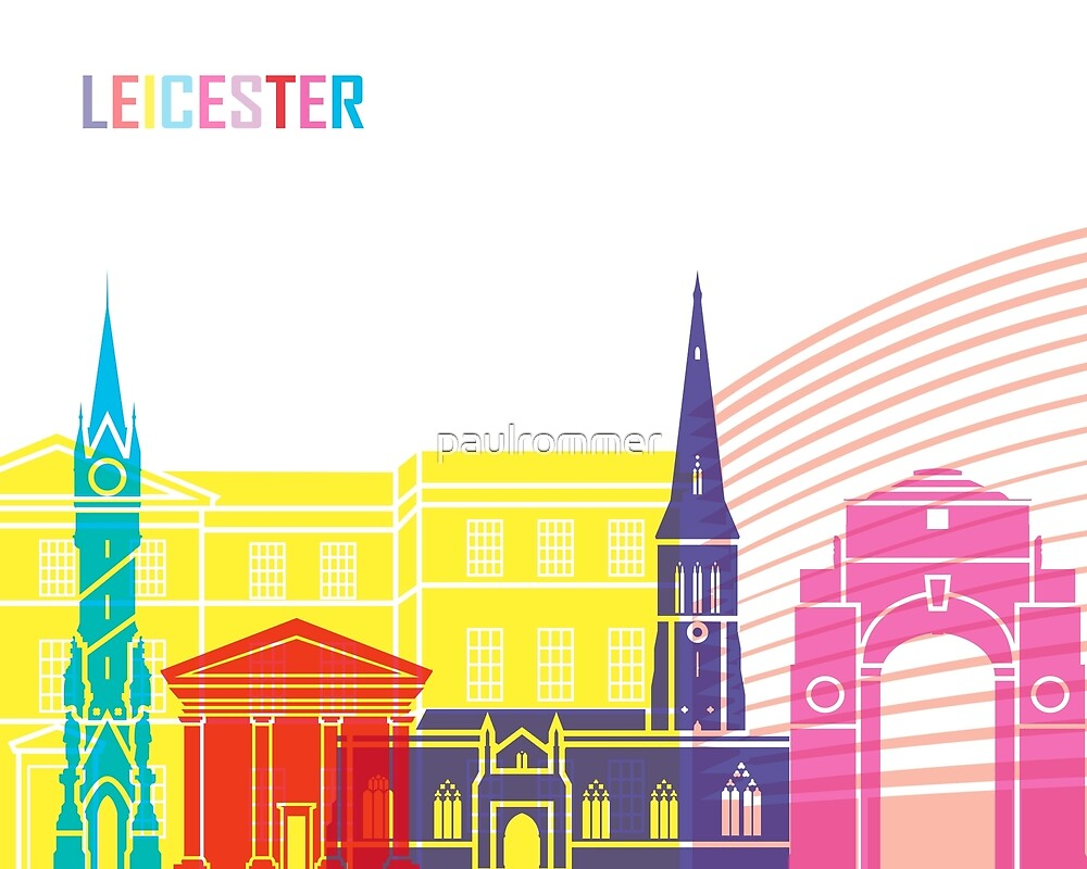 Leicester Skyline Pop von paulrommer