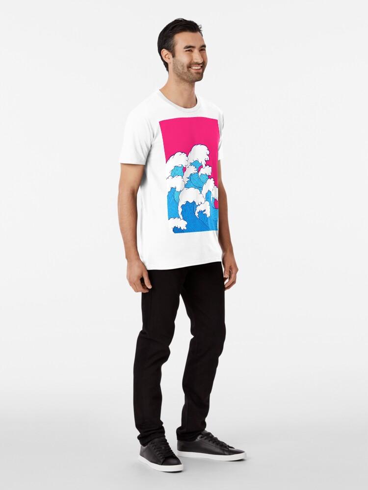 Alternative Ansicht von Wie die Wellen einrollen Premium T-Shirt