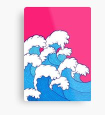 As the waves roll in Metal Print