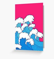 As the waves roll in Greeting Card