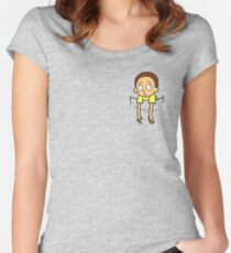 Pocket Morty! Women's Fitted Scoop T-Shirt