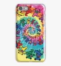 the grateful dead bears tie dye iPhone Case/Skin