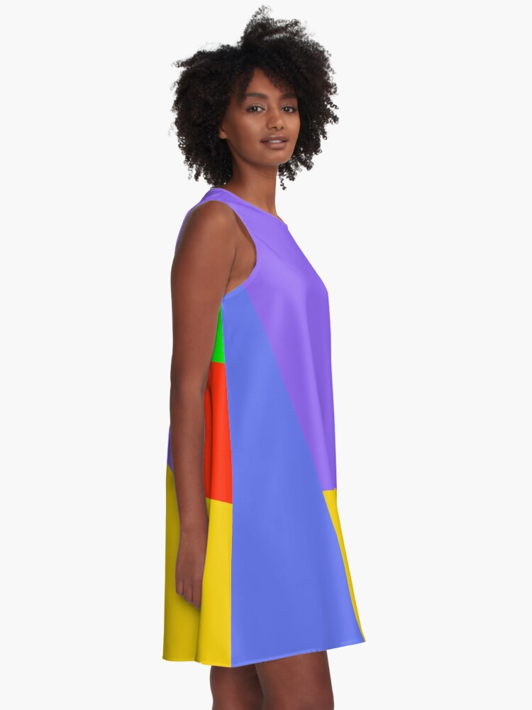 Alternate view of Abstract Color Blocks 1 A-Line Dress