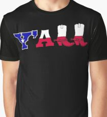 Y'all Texas FlagSouthern Cowboy Boots Graphic T-Shirt
