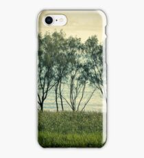 trees near the surf break lennox head iPhone Case/Skin
