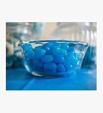 Blue Jellybeans Photographic Print