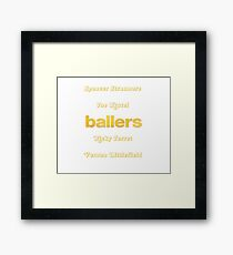Ballers HBO Framed Print