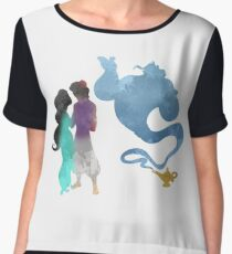 Princess, Prince and Genie Inspired Silhouette Chiffon Top