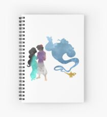 Princess, Prince and Genie Inspired Silhouette Spiral Notebook