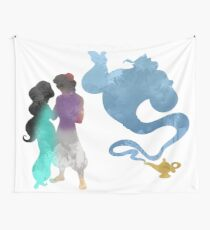 Princess, Prince and Genie Inspired Silhouette Wall Tapestry