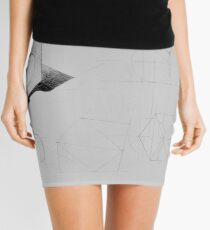 Drawing illustration of axonometric projection of abstract architecture exercise    Mini Skirt